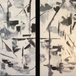 abstract, contemporary, blacks, whites, grays, new mexico