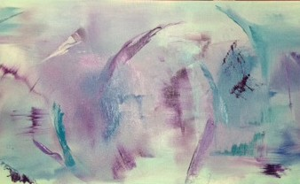 abstract, contemporary, oil, blues, purples, teals, new mexico